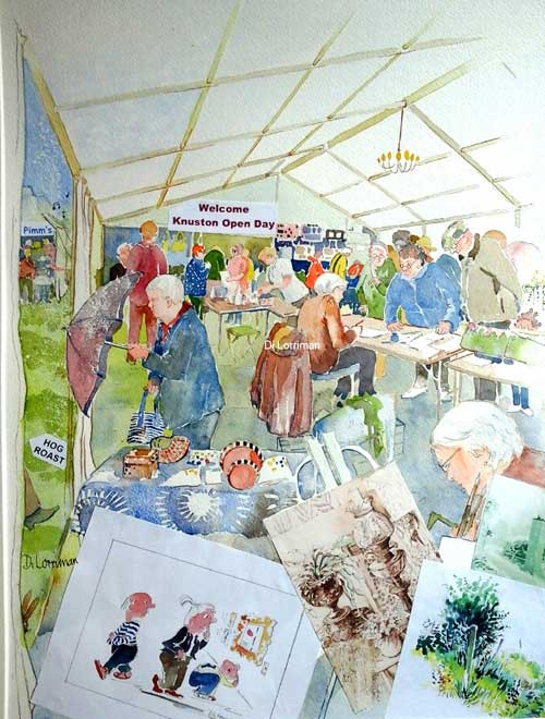 August Bank Holiday Marquee. Knuston Hall - Mixed Media