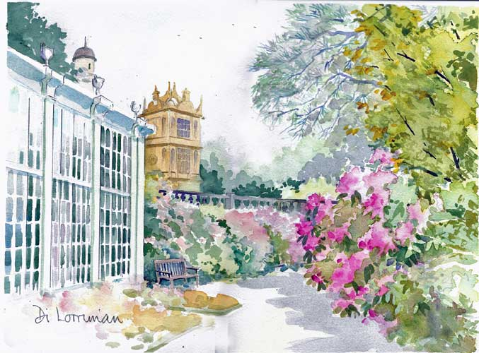 Wollaton Hall. Painting by Di Lorriman